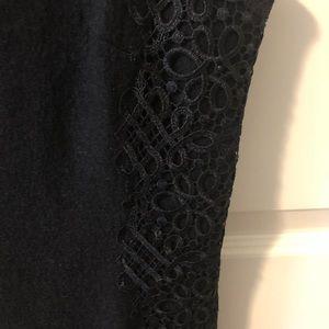 Banana Republic wool mix black dress